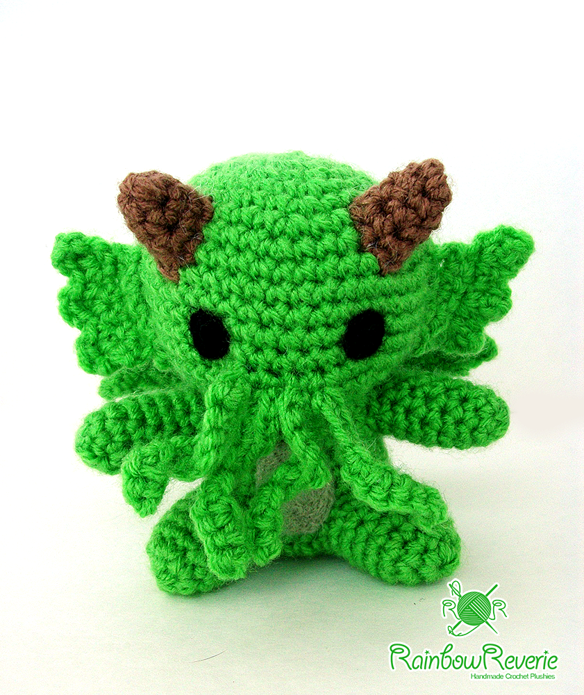 Green Amigurumi Sea Monster Cthulhu Plush Toy by ...