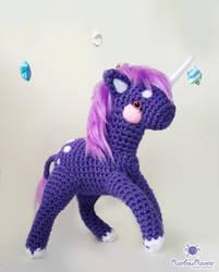 Purple Unicorn Amigurumi by RainbowReverie