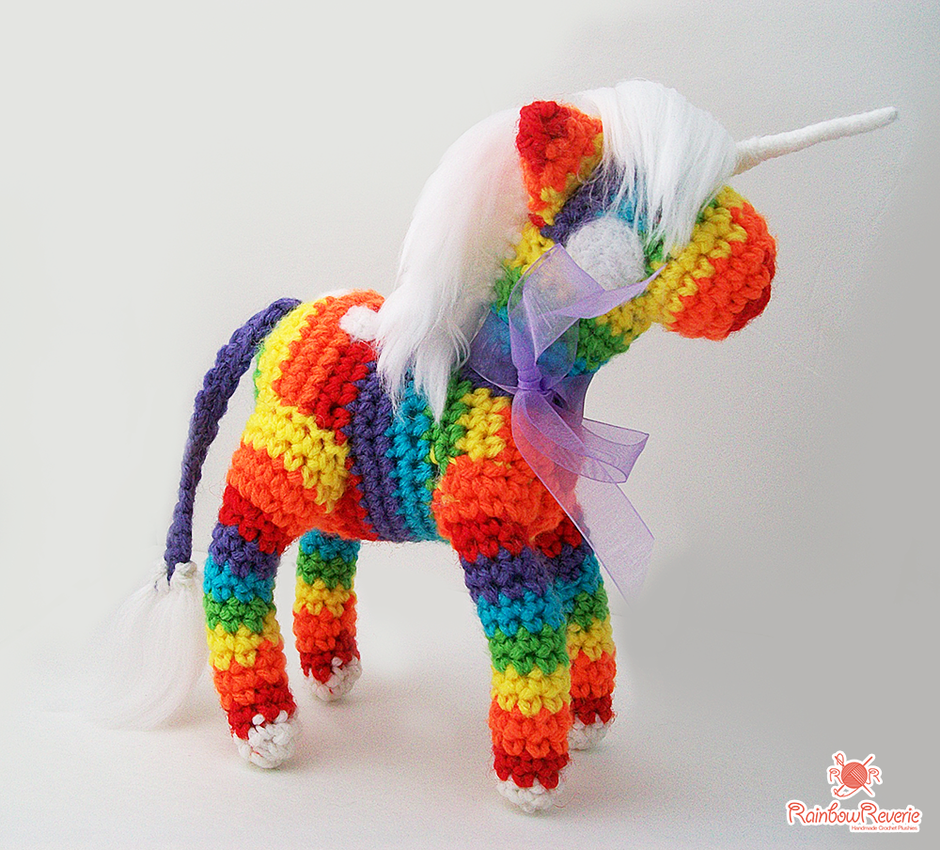 Unicorn Amigurumi Yarn Yard : Rainbow Unicorn Amigurumi Plush by RainbowReverie on ...