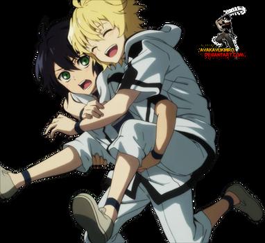 Owari no Seraph:Yuichiro and Mikaela render