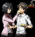 Shingeki no Kyojin :Mikasa,Eren render