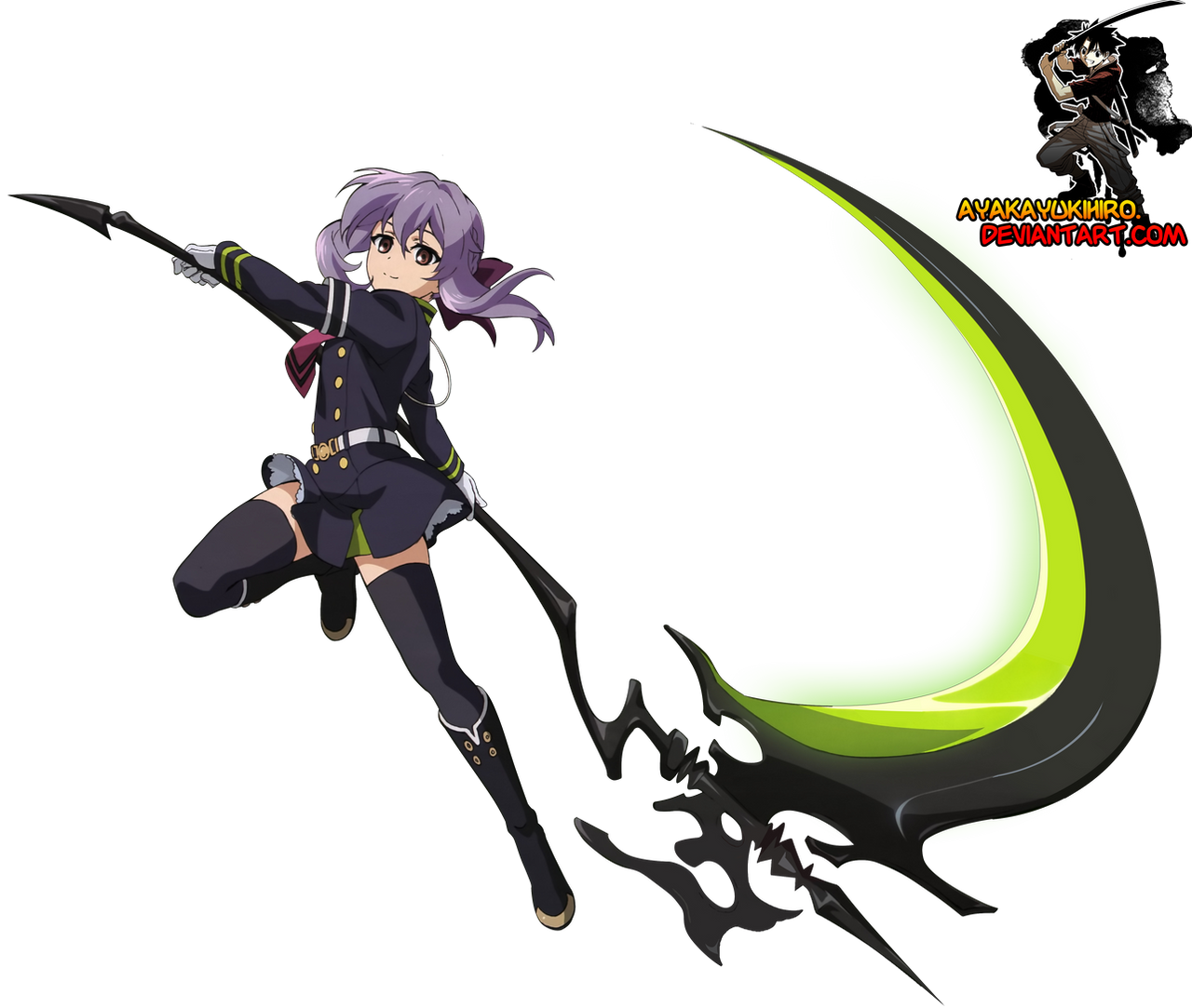 Owari no Serap :Shinoa render