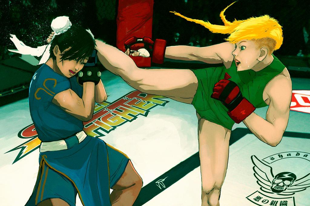 Cammy vs Chun Li by THE-SEXY-BEAST
