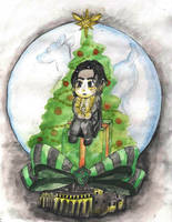 Christmas Snape by DosadiVH