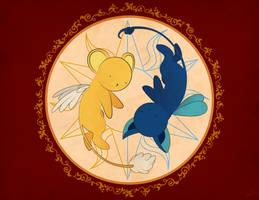 Kero y Spinel - Sakura Card Captor by chibineko4