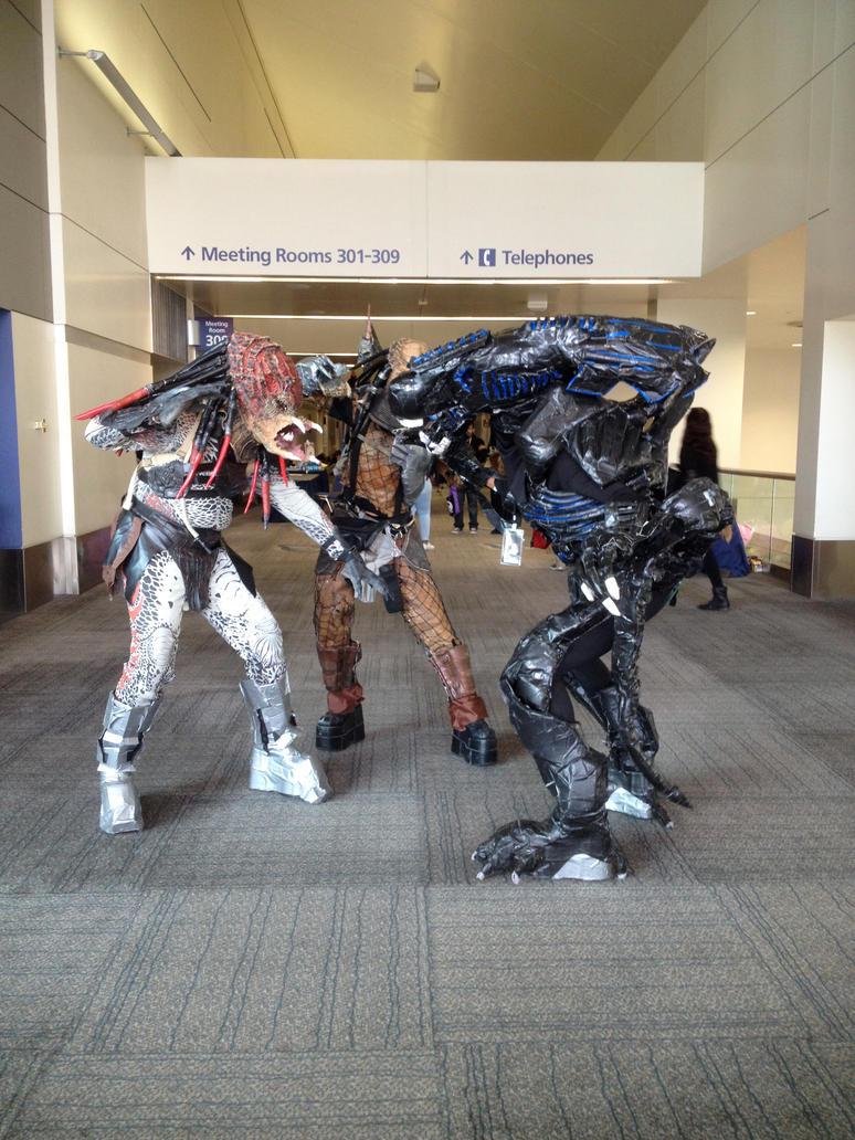 Aliens vs Predators by FrogGod1