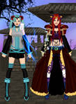 Miku And Ritsu Dress Up by AlexisYoko