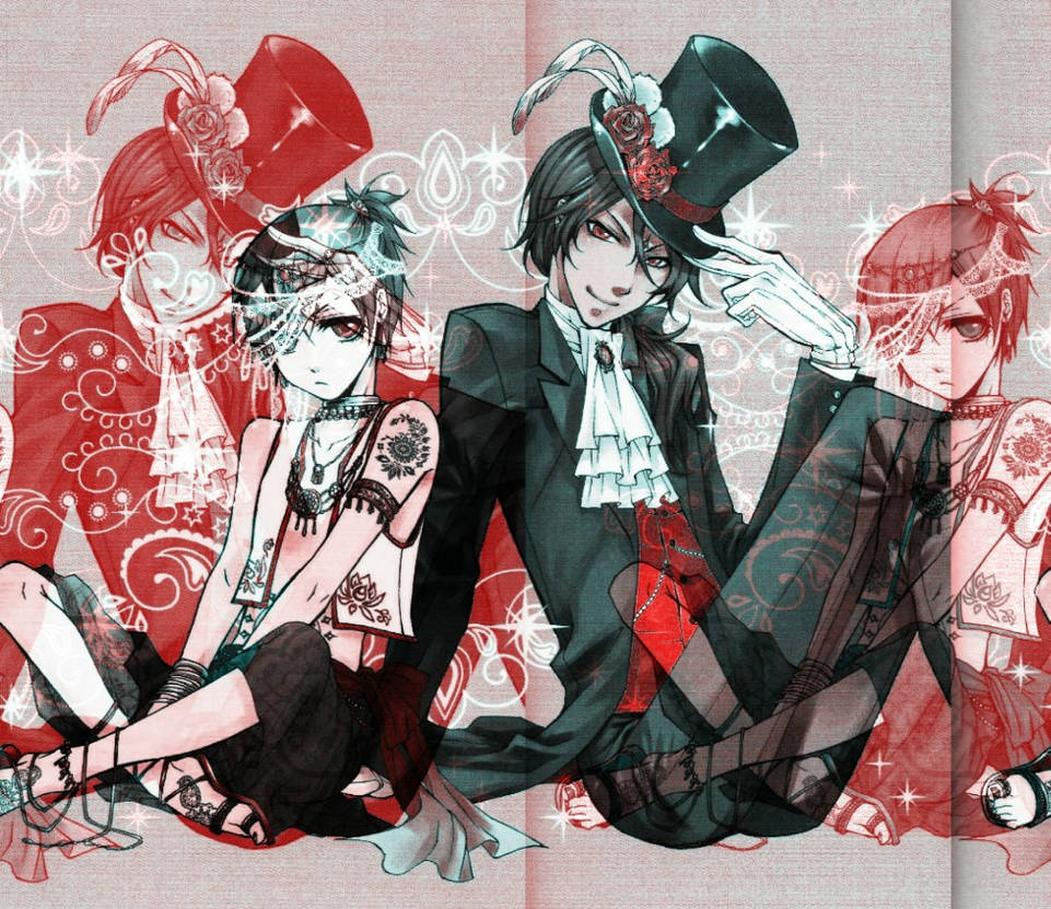 Ciel And Soma In Blue-Red Color Filtres