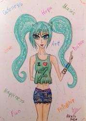 Miku Loves Deviant Art by AlexisYoko