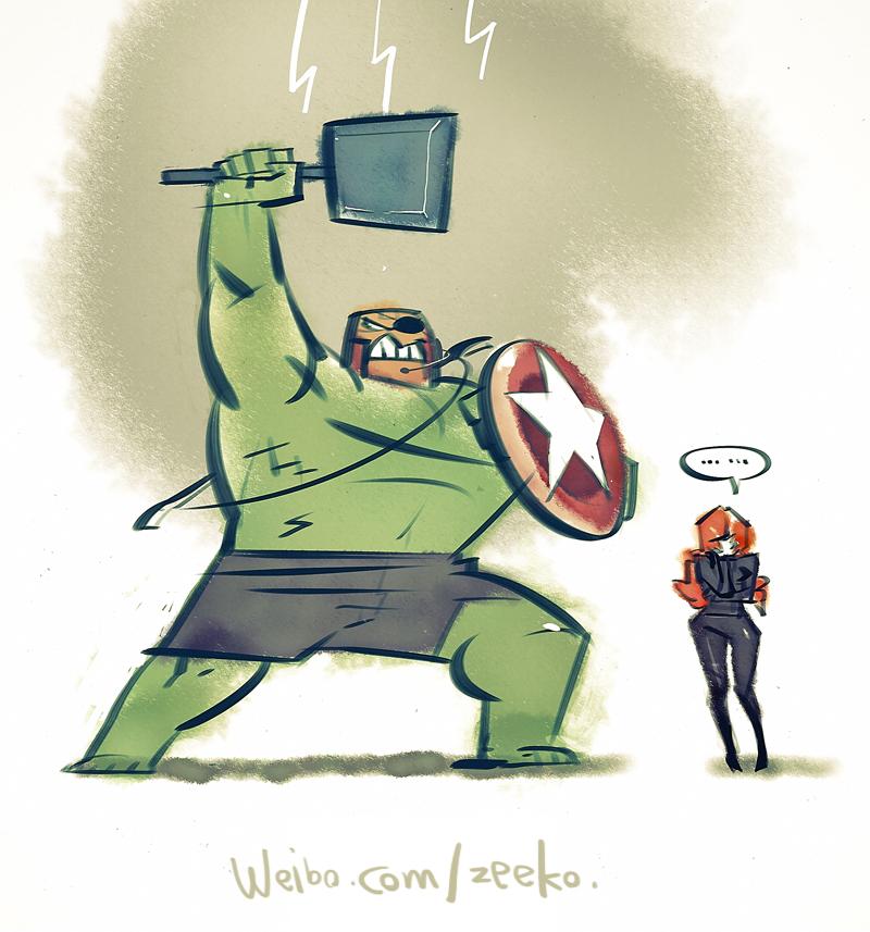 The Super Avengers by zeekolee