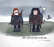 Then I took an arrow to the knee... by zeekolee