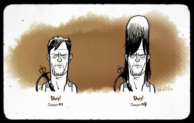#WALKING DEAD#DARYL is getting taller and taller by zeekolee