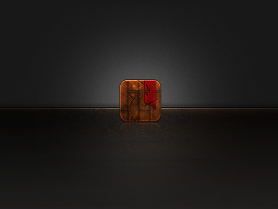 Wooden Grunge Icon by JonathanfromUPR