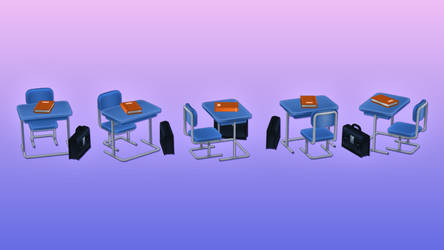 Anime Chibi - School Pack - Classroom Objects by OnBeeBox