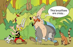 Asterix and Obelix in Brazil by Felipenn