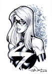 Ms. Marvel grayscale