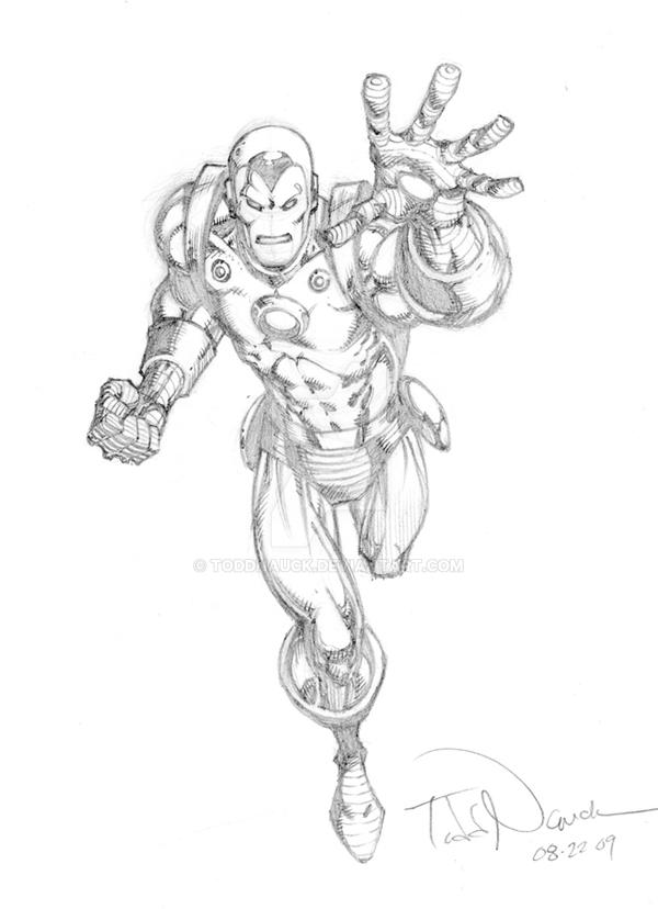 Iron Man pencil sketch by ToddNauck