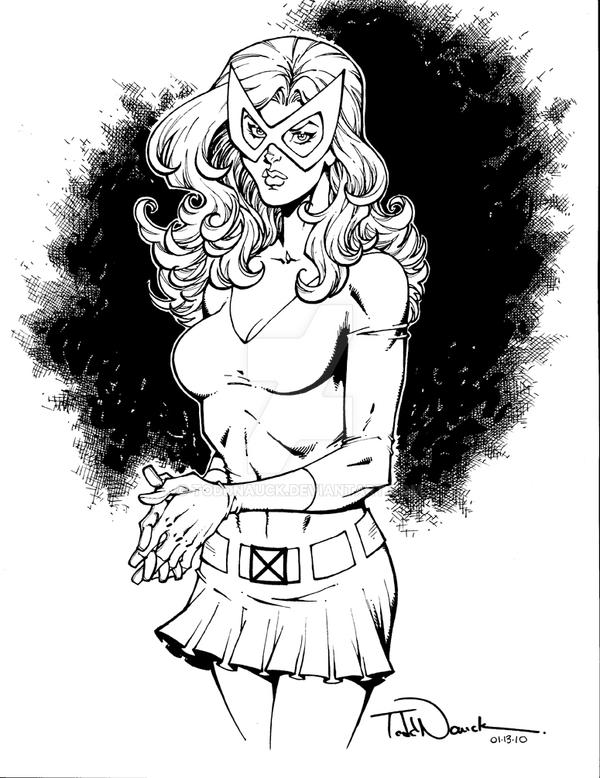 Marvel Girl: 1960's costume by ToddNauck