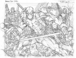 Heroes Con: Deadpool pencils