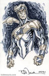 Booster Gold grayscale