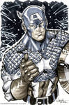 Captain America grayscale