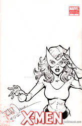 Jean Grey/Marvel Girl on X-Men sketch cover by ToddNauck
