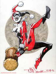 Harley Quinn Copic color