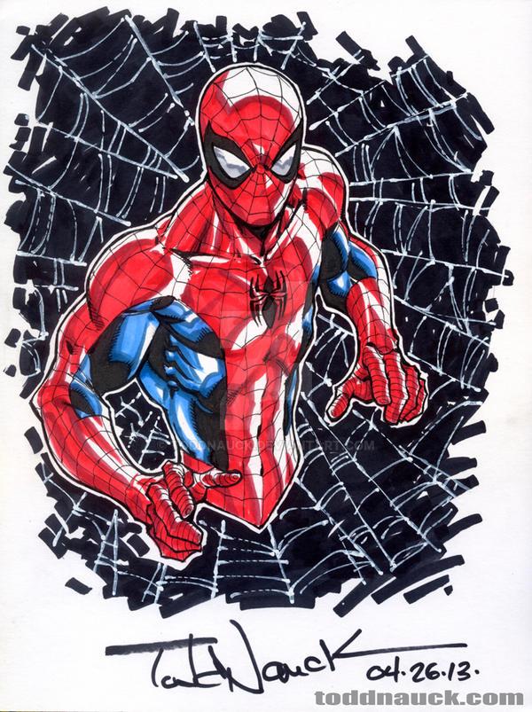 Man Youtube Makeup Gurus: Spider-Man YouTube Speed Drawing Series 2013 By ToddNauck