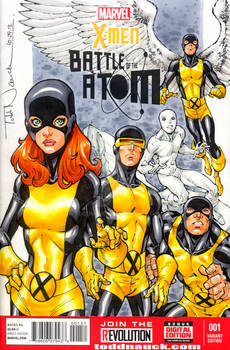 X-Men: Battle of the Atom sketch cover colors