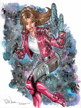 Kitty Pryde as Star Lady watercolor