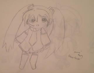 1st Drawing: Hatsune Miku