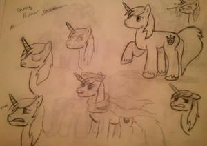 Shining Armor Doodles