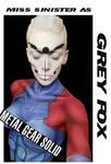 Grey Fox Body Paint