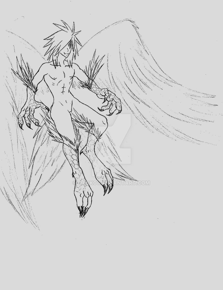 Male Harpy by Dask01
