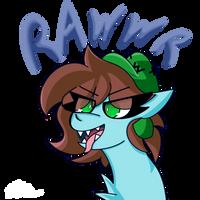 Rawwr, gift for Neko by BlazeP0ny