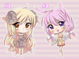 Chibi adoptables 2 - CLOSED - by Purichie