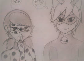 Miraculous Ladybug: Ladybug and Chat Noir by faflame101