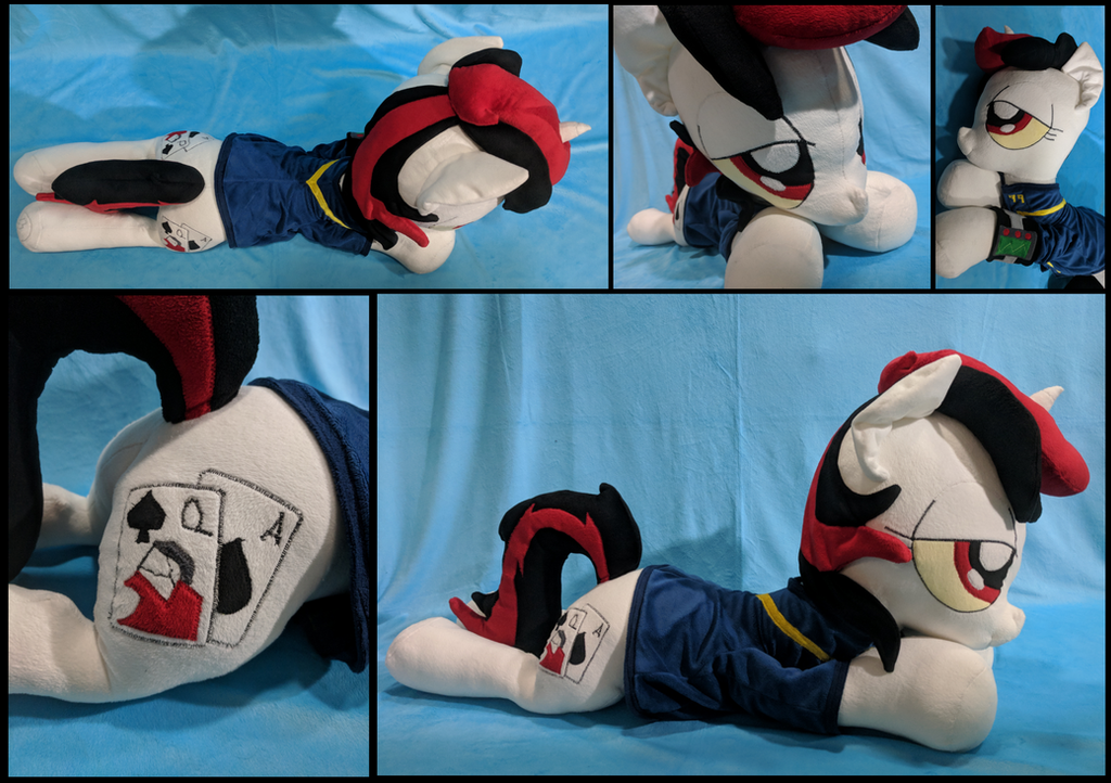 Blackjack - 36 inch laying plush by WhirlwindFlux