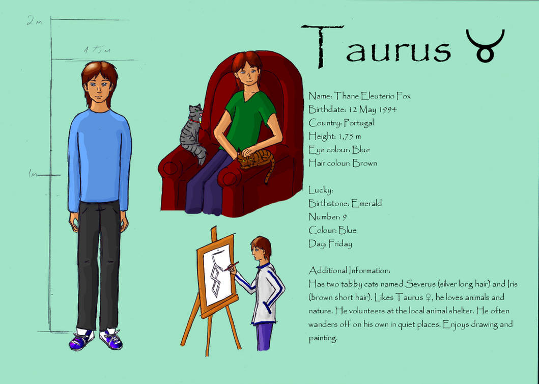 Taurus Male Reference by Shadow--wolfie on DeviantArt