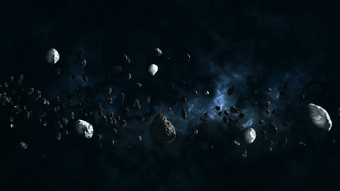 Asteroids Field by Massonius