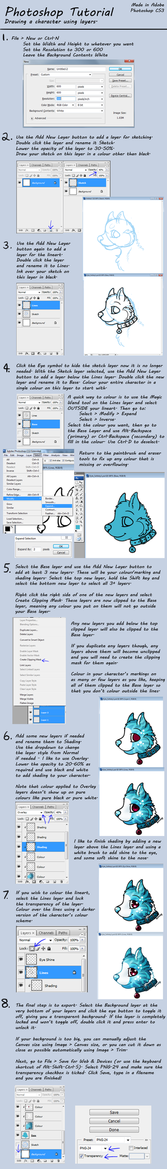 Photoshop tutorial draw a character using layers by solloby on photoshop tutorial draw a character using layers by solloby baditri Image collections