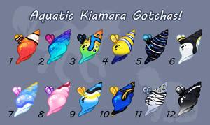 Kiamara Gotcha Adopts - Aquatic Themed - CLOSED