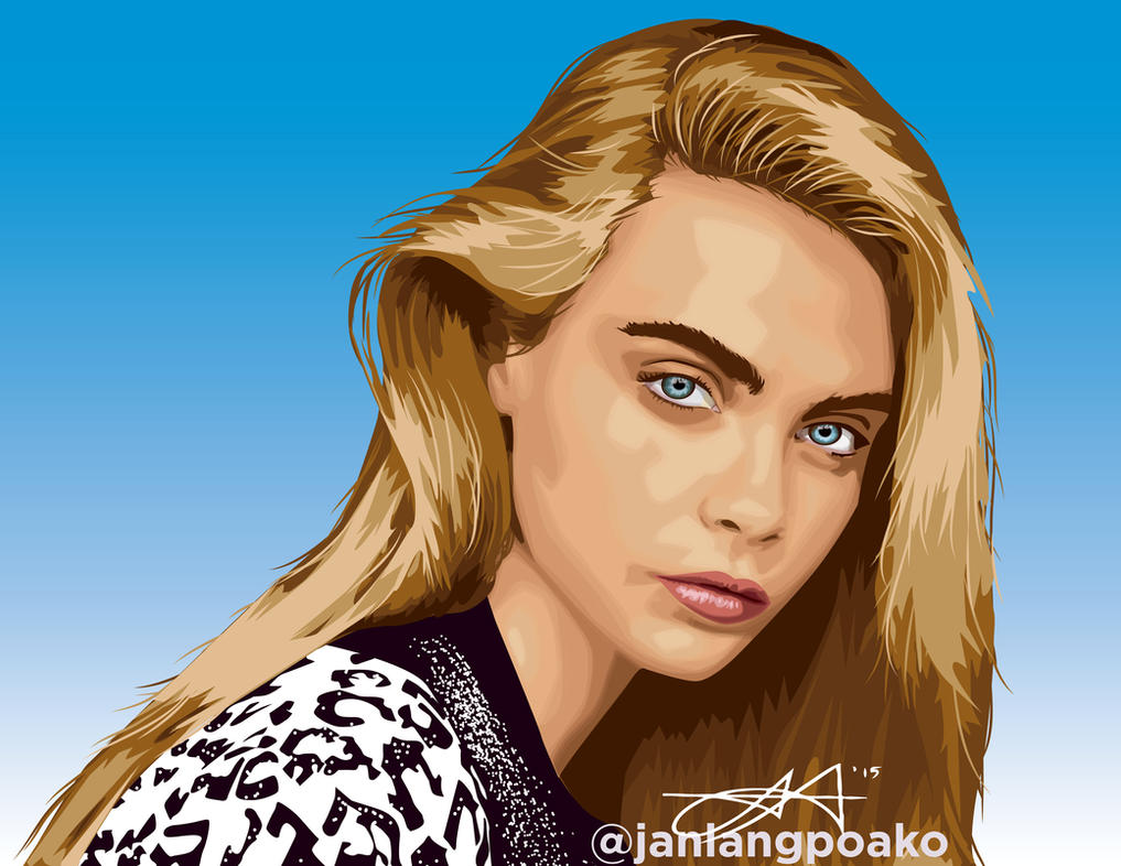 Cara Delvigne by janlangpoako