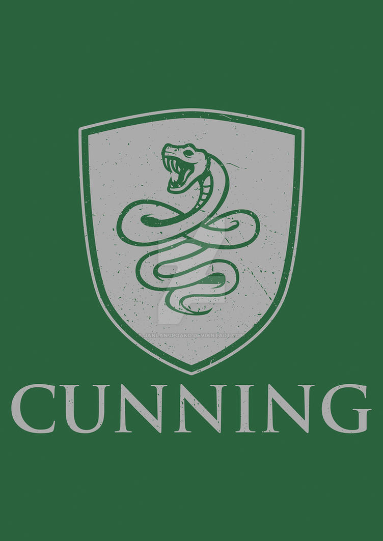 Slytherin - CUNNING by janlangpoako