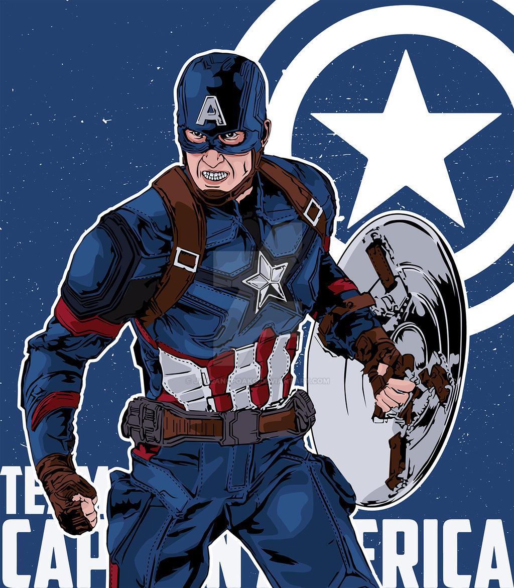 Captain America - Civil War by janlangpoako