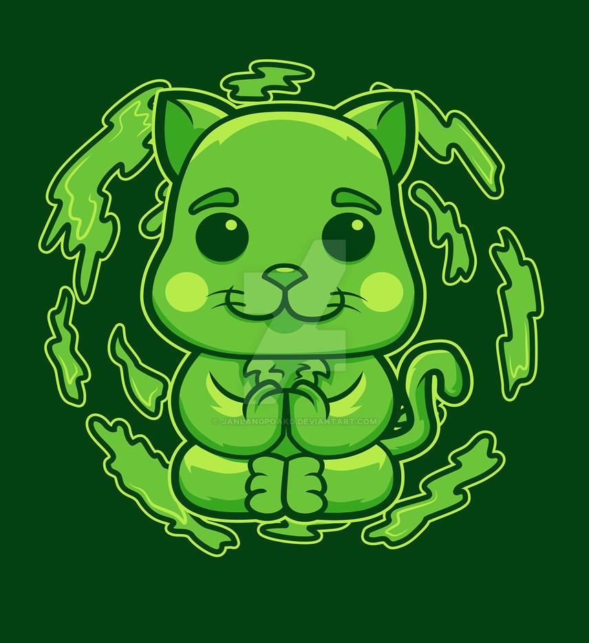 Earth Cat by janlangpoako