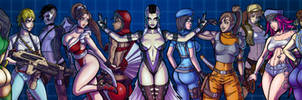 The Sultry Ladies of 90's Arcades (Full View)