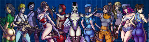 The Sultry Ladies of 90's Arcades (Full View) by hombre-blanco