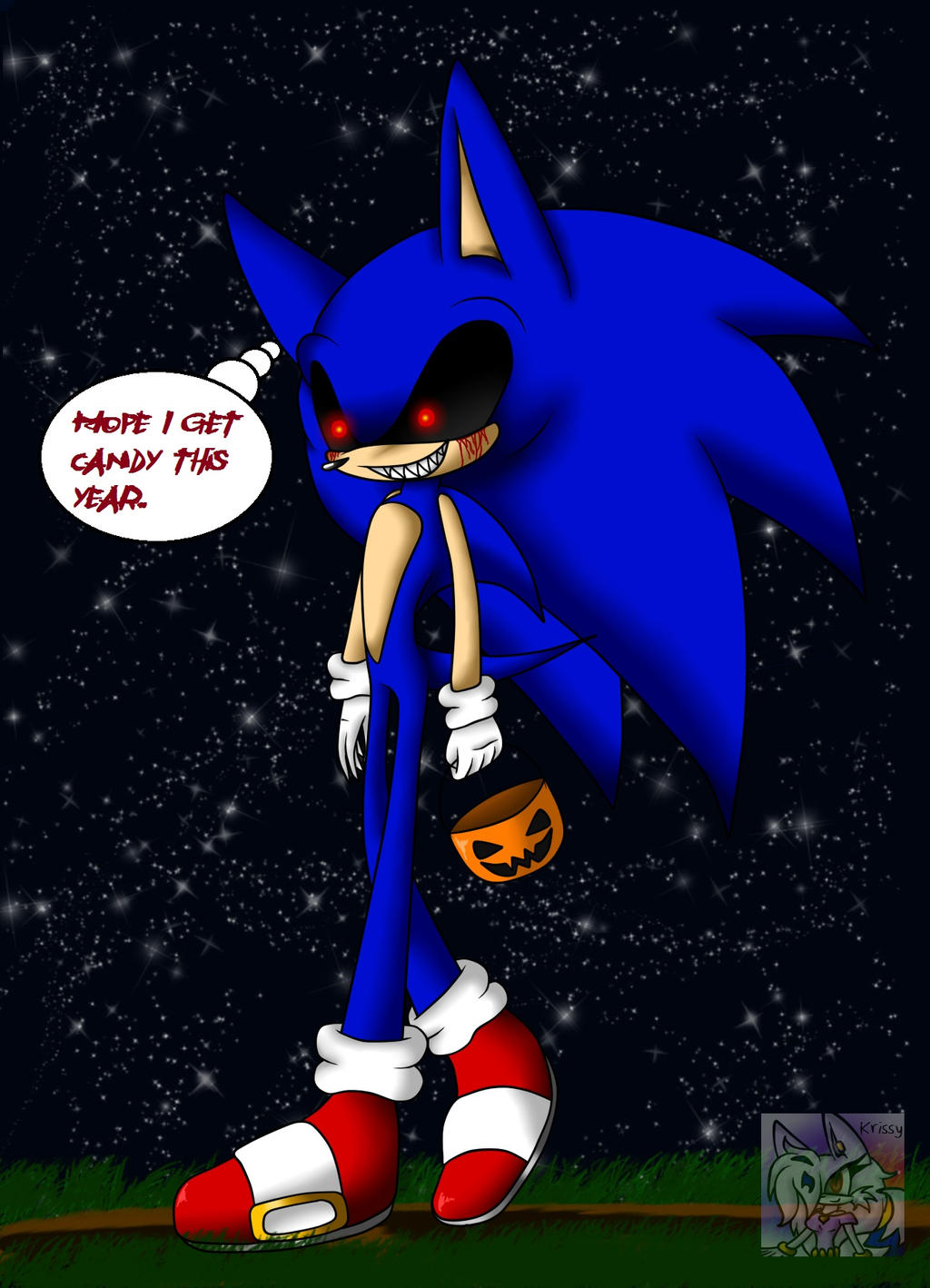 Sonic exe picture by sonicsonic1 on deviantart - Trick N Treating Tonight Sonic Exe By Sonicsonic1 On