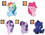 Expressions meme but ponies